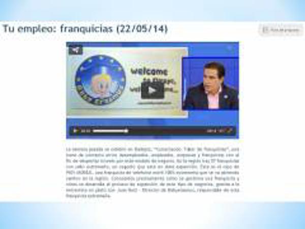 Baby Erasmus habla del modelo de franquicia en Canal Extremadura