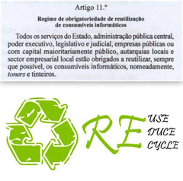 Franquicia Zona Verde: Portugal obliga a la reutilización de los consumibles informáticos