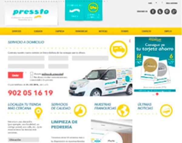 La red de franquicias Pressto presenta su nueva web