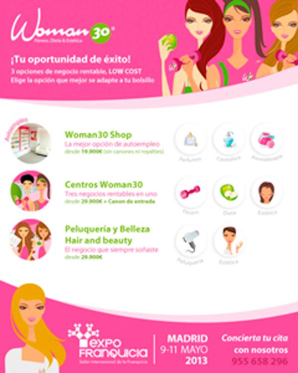 La franquicia Woman 30 presenta 3 opciones de negocio Low Cost en Expofranquicia