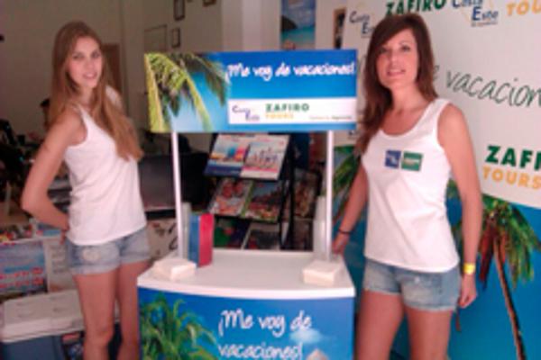 Las franquicias Zafiro Tours inician su campaña publicitaria de marketing street