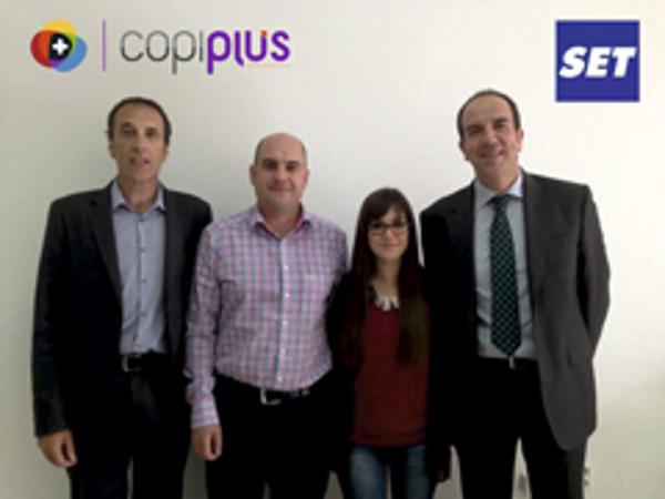 La red de franquicias Copiplus y Set acuerdan un convenio de colaboraci�n
