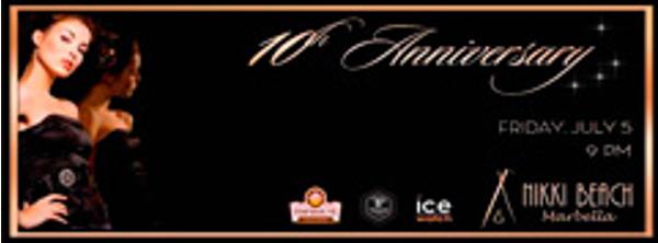 Las franquicias Tophouse Chocolate serán colaboradoras en el 10 aniversario de Nikki Beach