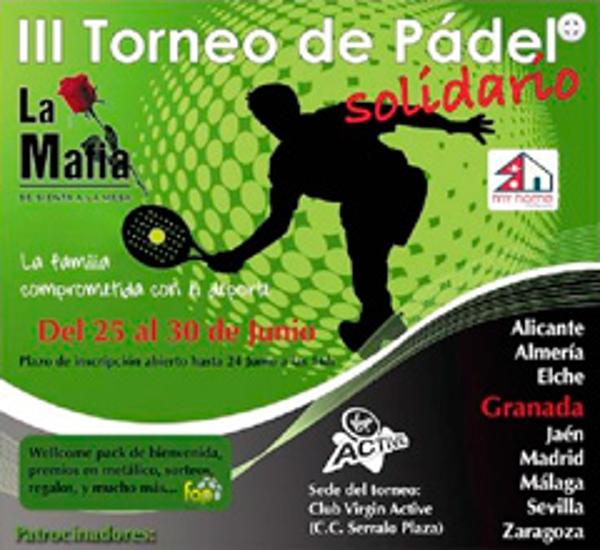 Las franquicias La Mafia organizan el III Torneo «Solidario La Mafia» de Pádel