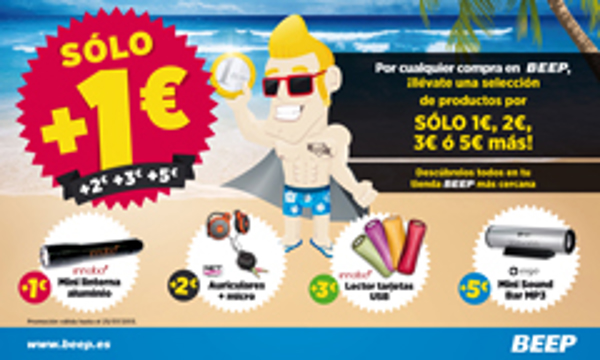 Las franquicias Beep ofrecen una selección de productos por sólo 1€ más