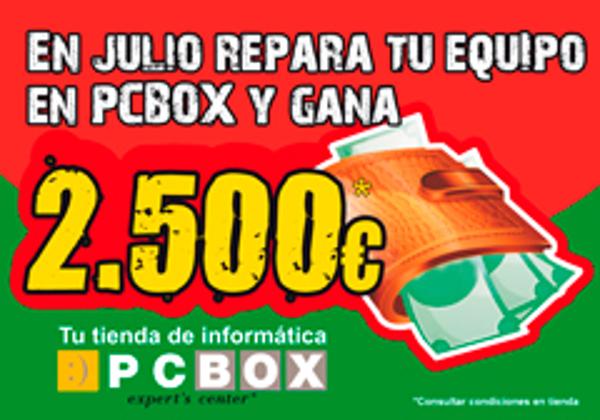 Las franquicias PCBOX y PC Coste sortean 2.500€, por cadena, entre sus clientes
