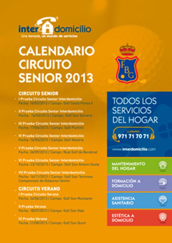 La franquicia Interdomicilio Mallorca patrocinadora del Circuito Senior de Golf Balear