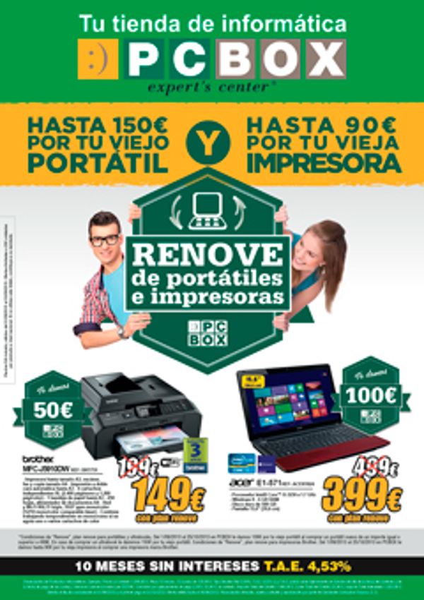 Gana dienro al renovar tu portátil o impresora en las franquicias PCBOX