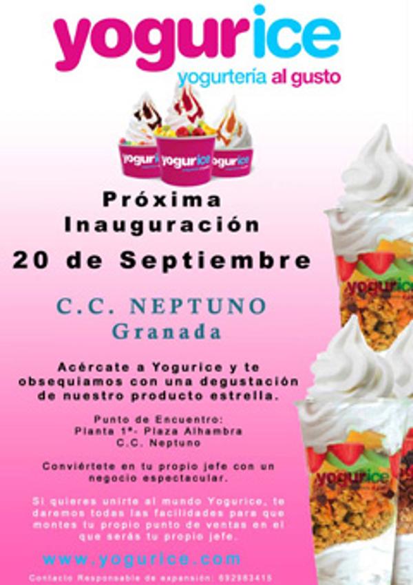 Yogurice abre sus puertas en Granada
