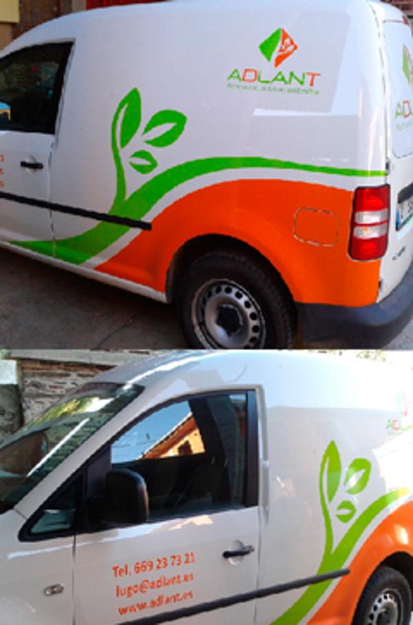 La franquicia Adlant Lugo se acoge a la promoción de rotulación de furgonetas