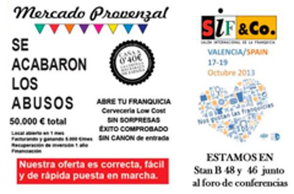 Las franquicias Mercado Provenzal participan en el SIF&Co. en Valencia