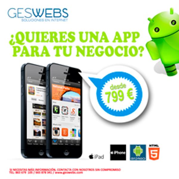 La franquicia Geswebs presenta las Apps para Empresas
