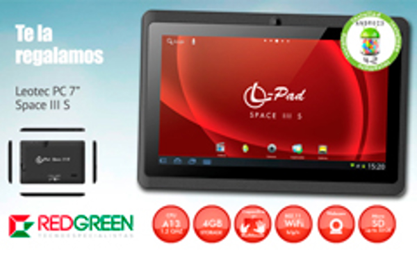 La franquicia Redgreen regala una Tablet Leotec de 7 pulgadas PC Space III S