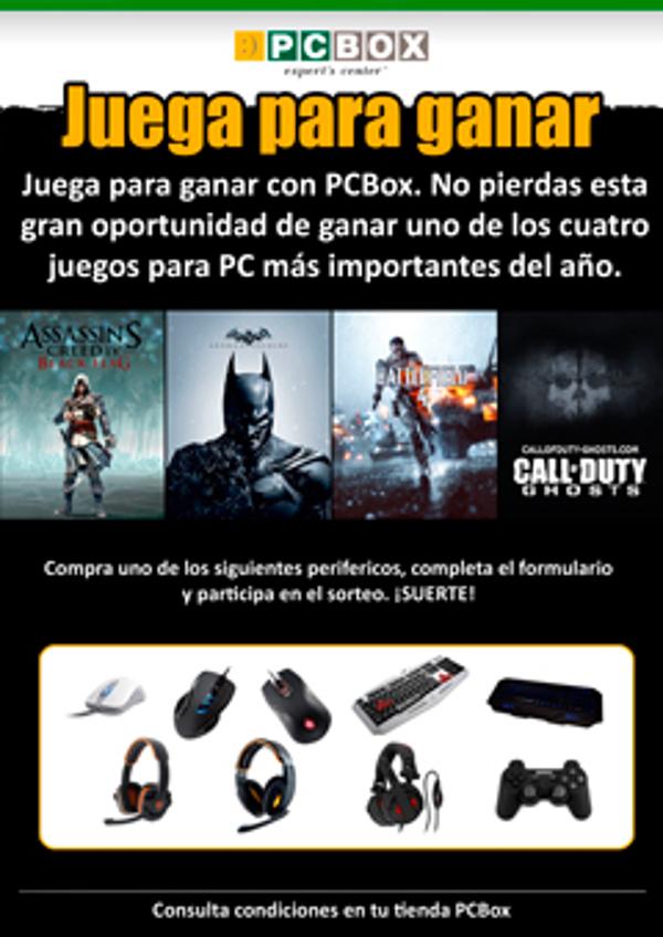 La franquicia PCBOX pone en marcha una promoción exclusiva para gamers