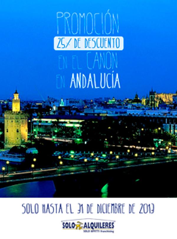 La franquicia Solo Alquileres ofrece un descuento en el área de Andalucía hasta fin de año