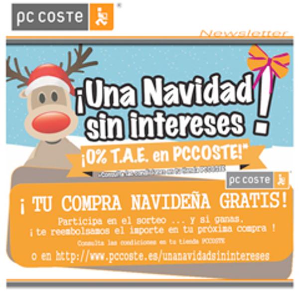 ¡En las franquicia PC COSTE, tu compra navideña gratis!