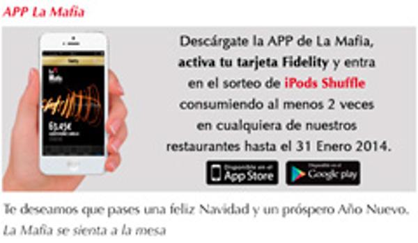 Nueva App de las franquicias La Mafia se sienta a la mesa