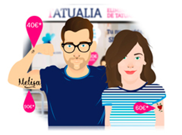 La franquicia Tatualia borra de tu piel a tu ex pareja por San Valentín