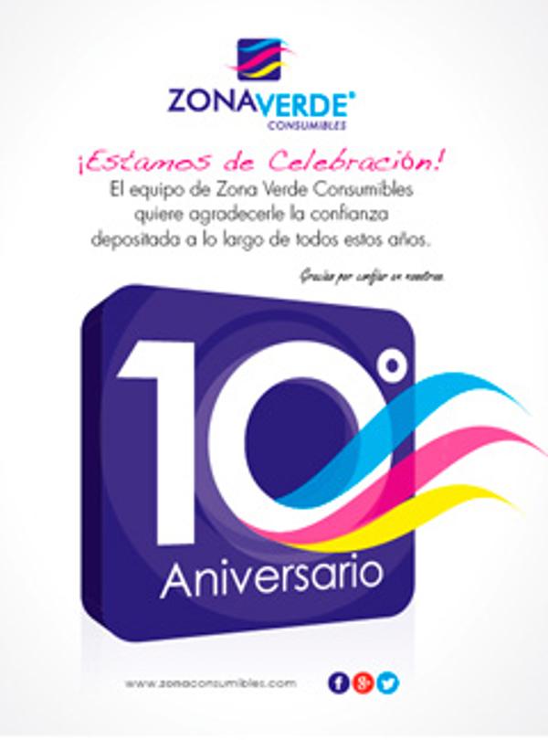 10º Aniversario de las franquicias Zona Verde Consumibles