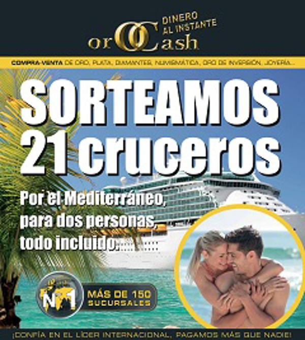 Orocash-Orobank franquicias regala 21 cruceros