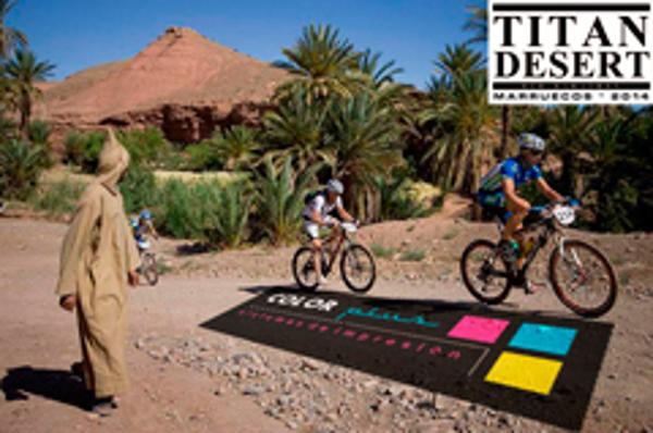 Las franquicias Color Plus apoyan a Jes�s Manuel Reyes en la Titan Desert 2014
