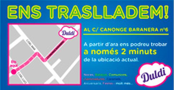 Cambio de local en Duldi Encueta Badalona
