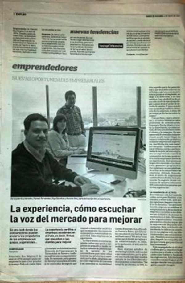 Reportaje de la franquicia La Experiencia en DN Management