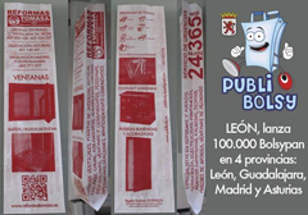 La franquicia Publibolsy León lanza su primera bolsa único anunciante
