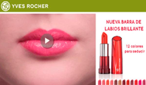 La franquicia Yves Rocher presenta un juego virtual con el lanzamiento de su nueva barra de labios