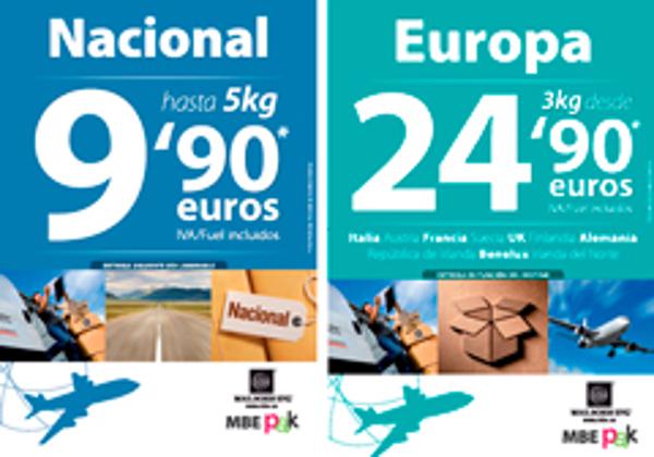La franquicia Mail Boxes Etc. presenta su promoción de MBEPAK para envíos nacionales y europeos