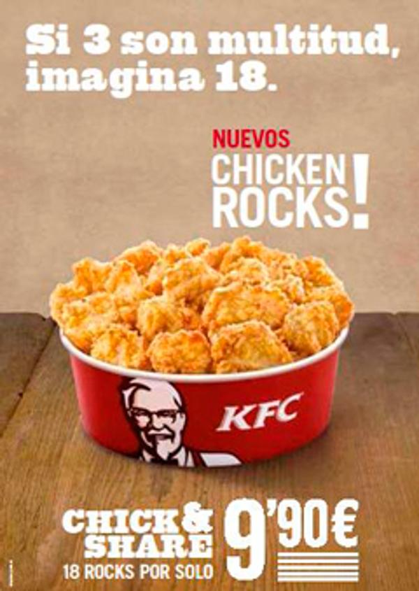 La franquicia KFC lanza los CHICKEN ROCKS!™: su nuevo formato de pollo sin hueso