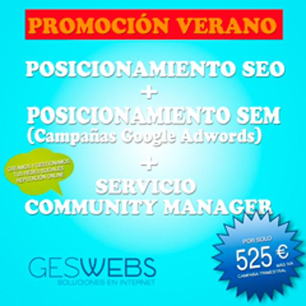 Promoción especial verano de las franquicias GesWebs
