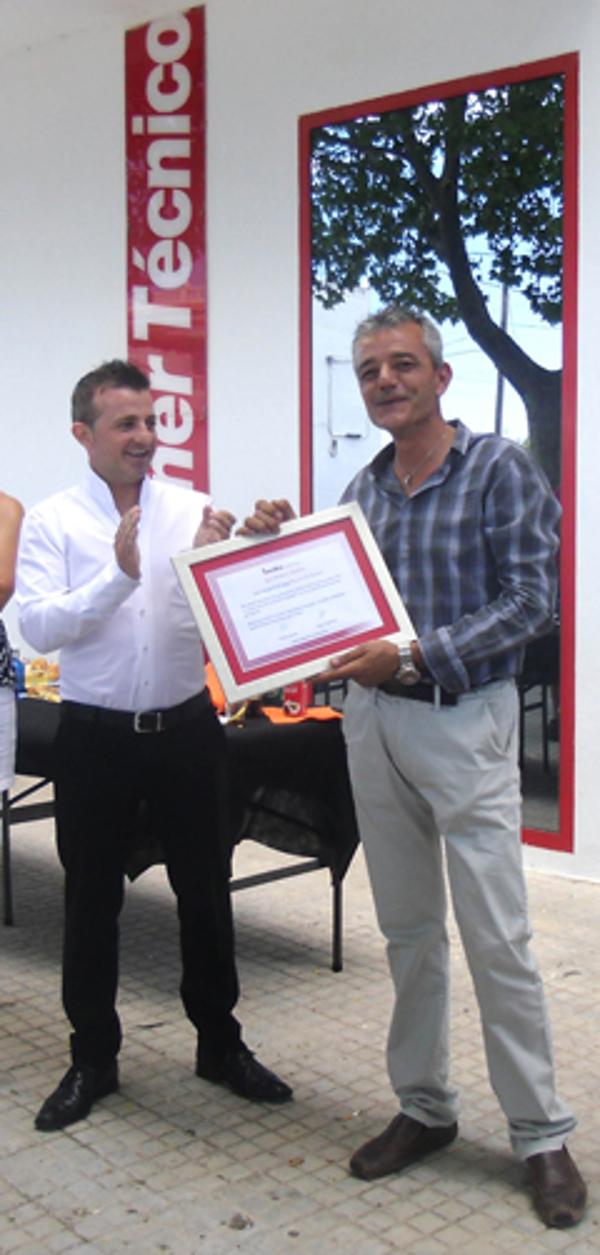 Las franquicias Berolina celebran la bienvenida de su delegado comercial en Valencia Sur