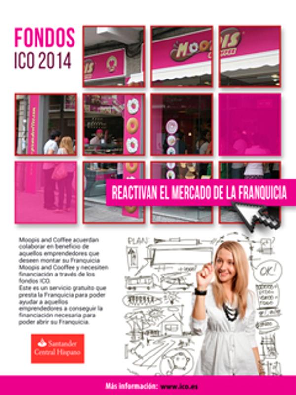 La franquicia Alicantina Moopis & Coffee firma un acuerdo con el Santander Central Hispano