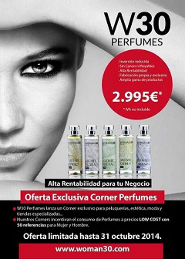 W30 Perfumes lanza sus corner a precios Low Cost