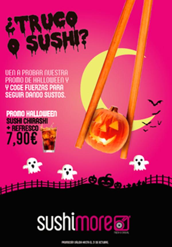 Chirashi deconstruido, el sushi más terrorífico de las franquicias Sushimore para Halloween