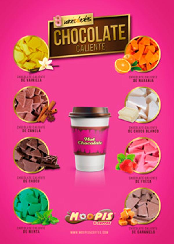 Las franquicias Moopis And Coffee lanzan ocho variedades de chocolate caliente