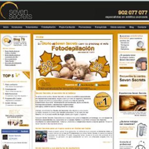 Lanzamiento de la web de la franquicia Seven Secrets