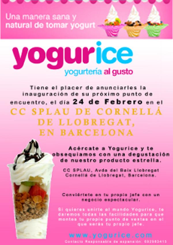 Yogurice abre una nueva franquicia en el CC Splau de Barcelona