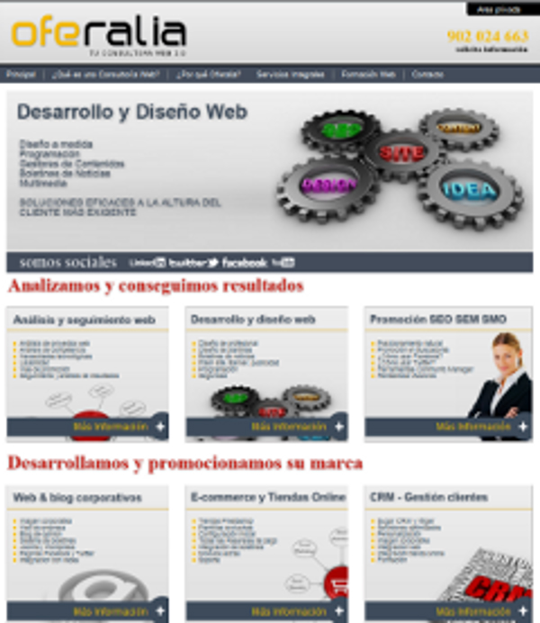 Nueva web corporativa de la franquicia Oferalia