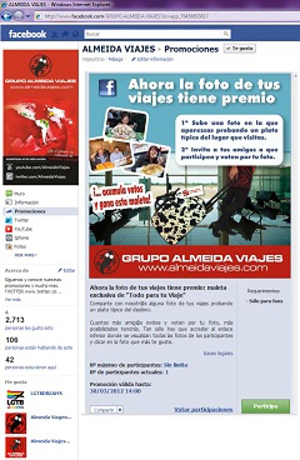 La franquicia Almeida Viajes arrasan en Facebook y Twittwer