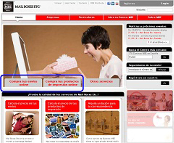 La franquicia Mail Boxes Etc. estrena tienda on line
