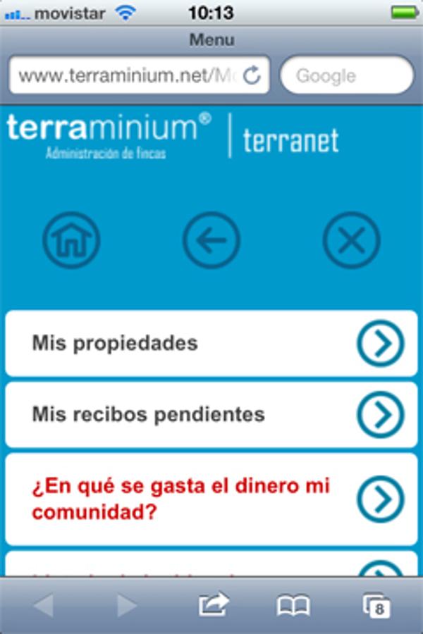 La franquicia Terraminium pone  en marcha un dispositivo de consultas a través del móvil