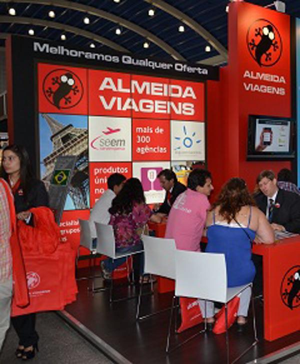 Las franquicias Almeida Viajes en la Franchising Fair de Porto Alegre