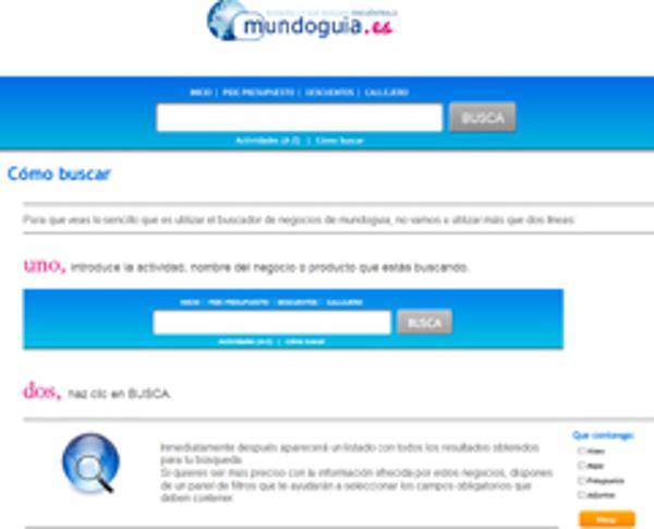Las franquicias Mundoguia mejoran su buscador