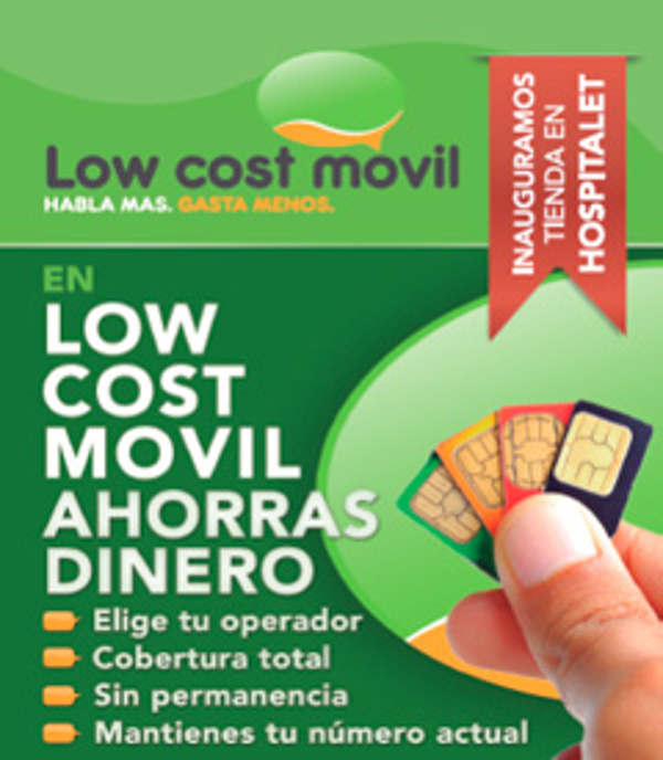 Nueva franquicia Low Cost Móvil en L'Hospitalet de Llobregat