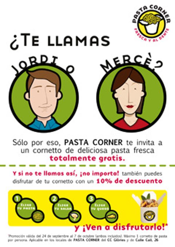 La franquicia Pasta Corner celebra su segunda apertura en Barcelona