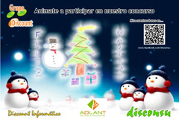 Concurso navideño infantil organizado por Grupo Discount, franquicias Disconsu y Adlant