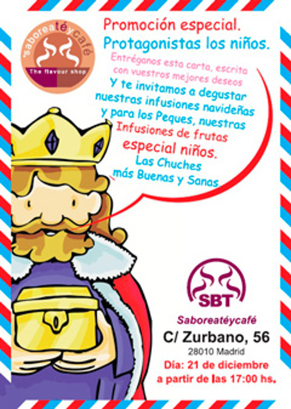 Las franquicias Saboreat�ycaf� contar�n con la presencia del Paje Real de los Reyes Magos