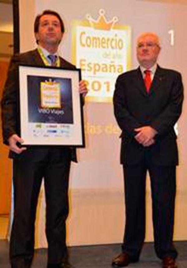 """Las franquicias Vibo Viajes ganan el premio """"Comercio del Año España 2012"""""""